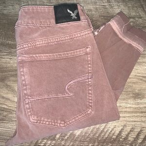 American Eagle Mauve Jeggings